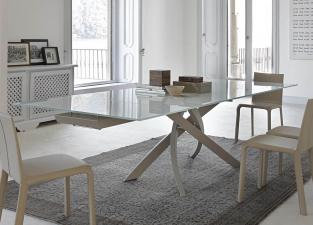 Bontempi Artistico Extending Glass Dining Table