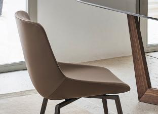 Bonaldo Artika Dining Chair With Sled Base