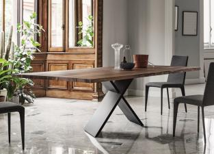 Bonaldo Ax Dining Table in American Walnut With Natural Edges