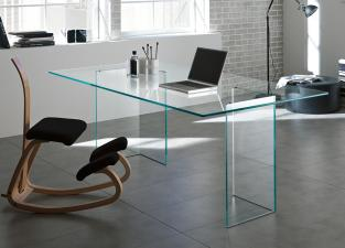 Tonelli Bacco Glass Desk
