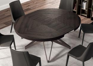 Ozzio Big Round Extending Dining Table