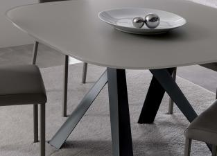 Ozzio Bombo Glass Dining Table