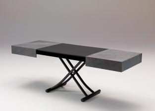 Ozzio Box Transformable Table In Stone