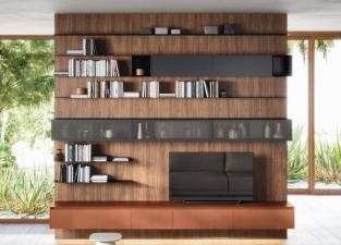 Novamobili Box 18 Wall Panelled Display Cabinet & TV Unit