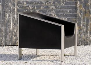 Cube Black Garden Chair