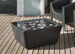 Cube Black Garden Coffee Table