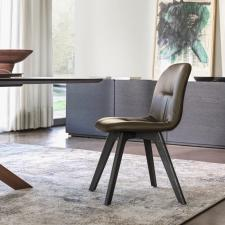 Bontempi Chantal Dining Chair with Wooden Legs