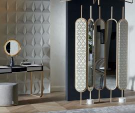 Gallotti & Radice Chloe Mirrored Screen
