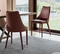 Bontempi Clara Dining Chair With Quilted Back