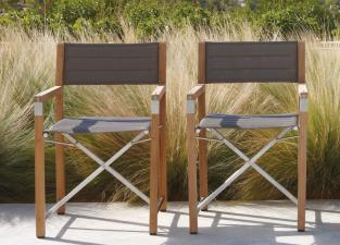 Manutti Cross Teak Garden Dining Chair