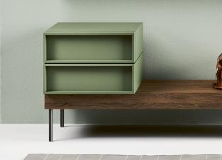 Novamobili Cube Bench With Drawers