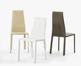 Bontempi Dalila Leather Dining Chair