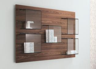 Tonelli Dazibao Walnut Wall Unit