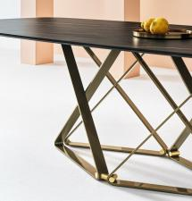 Bontempi Delta Barrel Top Dining Table