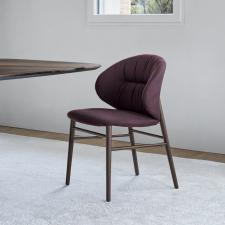 Bontempi Drop Dining Chair with Wooden Legs