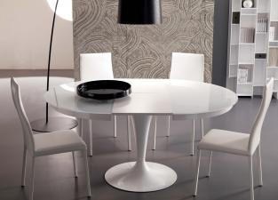 Ozzio Eclipse Round Extending Dining Table