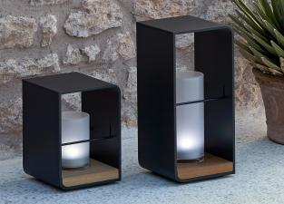 Manutti Flame Garden Candle Holder With Lumo LED Light