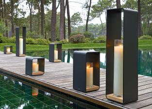 Manutti Flame Garden Candle Holder With Candle