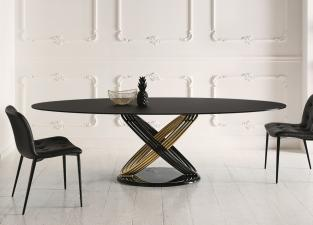 Bontempi Fusion Oval Dining Table