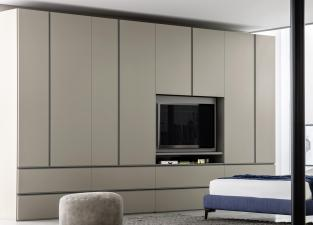 Gola Bedroom Wardrobe With Media Unit