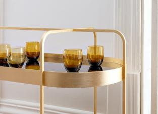 Schoenbuch Grace Limited Edition Gold Drinks Trolley