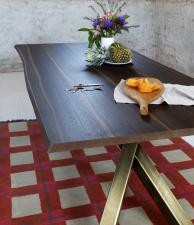 Miniforms Gustave Dining Table With Bronze Legs