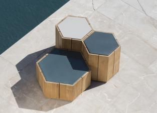 Tribu Hexagon Garden Coffee Table
