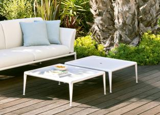Joint Contemporary Garden Coffee Table/Footrest