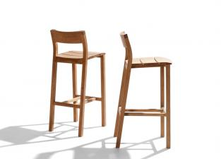 Tribu Kos Teak Garden Bar Stool