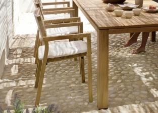 Tribu Kos Teak Garden Dining Chair