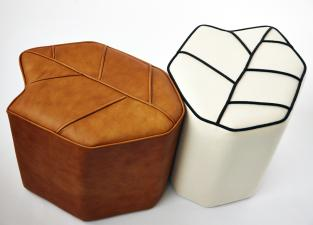Design By Nico Leaf Stool in Leather