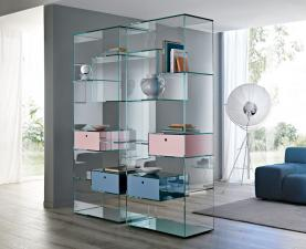 Tonelli Liber Large Glass Bookcase