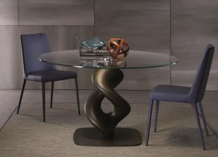 Ozzio Liquid Round Dining Table