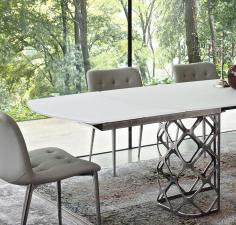 Bontempi Majesty Extending Glass Dining Table