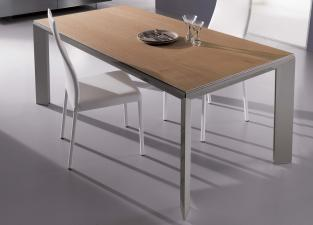 Ozzio Metro Legno Extending Dining Table