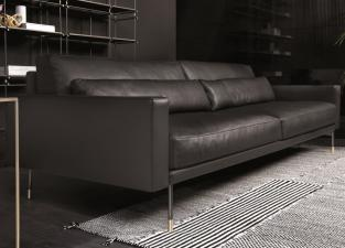 Vibieffe Modern Sofa with Wide Arms