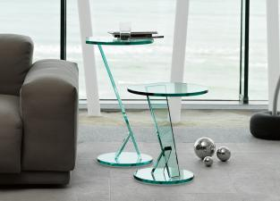 Tonelli Nicchio Glass Side Table