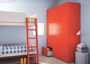 Battistella Nidi Children's Wardrobe with Drawers
