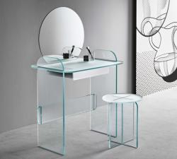 Tonelli Opalina Glass Dressing Table