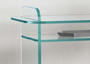 Tonelli Opalina Glass Console Table