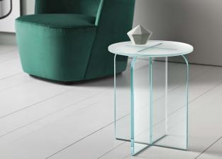 Tonelli Opalina Glass Stool/Side Table