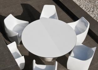 Pot Round Garden Table