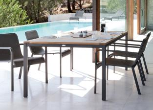 Manutti Quarto Teak Garden Table
