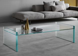 Tonelli Quiller Glass Coffee Table