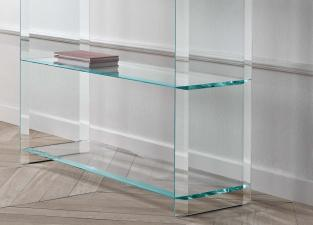 Tonelli Quiller Glass Bookcase