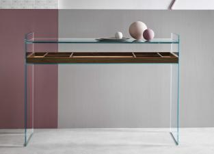 Tonelli Quiller Glass Desk