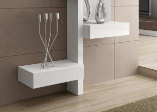 Richi Contemporary Mirror With Drawers