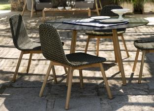 Round Garden Dining Chair