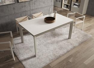 Sintra Extending Glass Dining Table