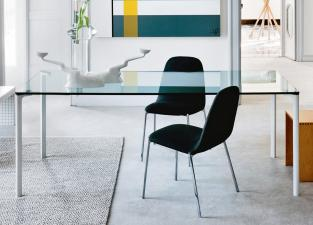 Zanotta Spillo Glass Dining Table